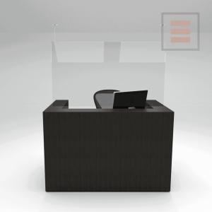 Pantalla de mostrador de plexiglás 1000 x 800 mm
