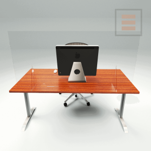 Bureauscherm Plexiglas 1400 x 700mm