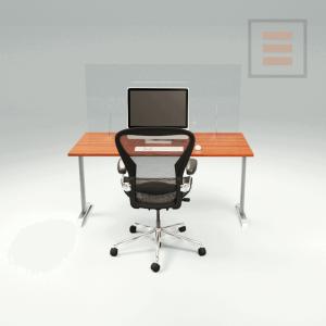 Pantalla de escritorio de plexiglás 800 x 700 mm
