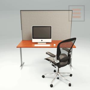 Bureauscherm Textiel 1600 x 700mm