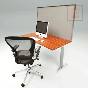 Office screen textile 1400 x 700mm.