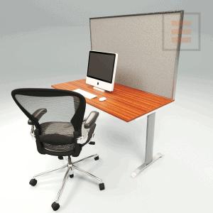 Bureauscherm Textiel 1400 x 700mm