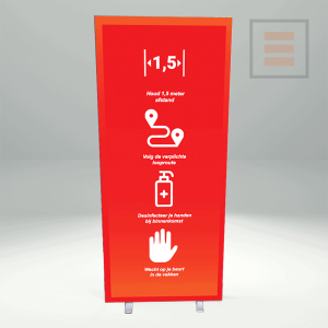 Information pedestal LED - Double-sided (Various formats).