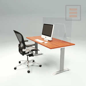 Office screen Plexiglas 1400 x 700mm.