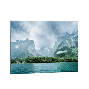 Textile frame - Lake and Mountains (id1).