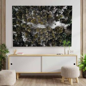 Textile Frame - Forest Nature Birdseye View (id2).