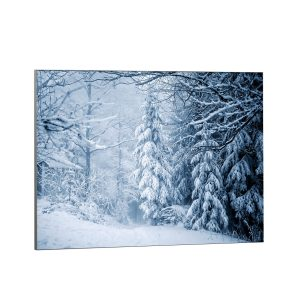Textile frame - Winter landscape Forest (id22).