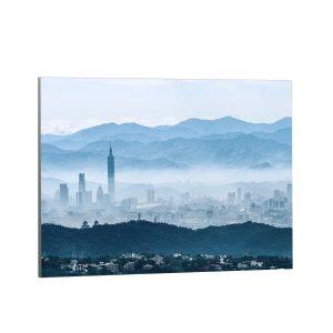 Textile frame - Taipei in the fog (id24)