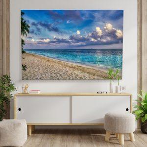 Textile frame - Caribbean Sea (id23).