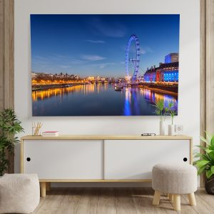 Textile frame - Colourful London (id16).