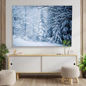 Textielframe – Winterlandschap Bos (id22)