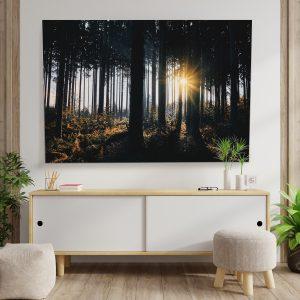 Textile frame - Sun through the trees (id3).