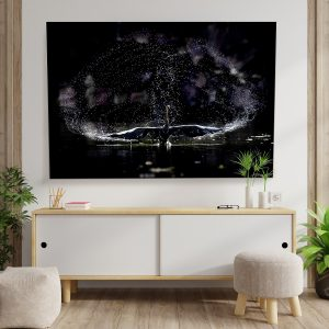 Textile Frame - Swan Water and Light Game (id10).